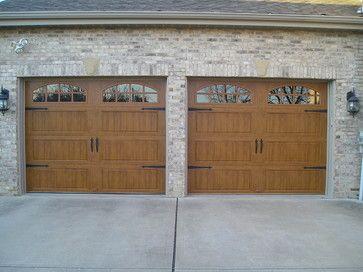 Clopay Gallery Collection Steel Garage Door With Medium Oak Ultra