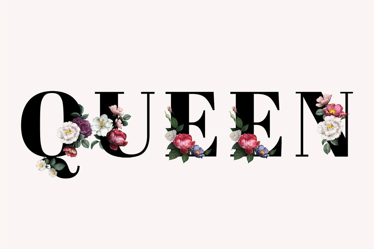 Floral Queen Word Typography On A Beige Background Free Image By Rawpixel Com Manotang Free Illustrations Typography Pastel Background Flower zaid name wallpaper