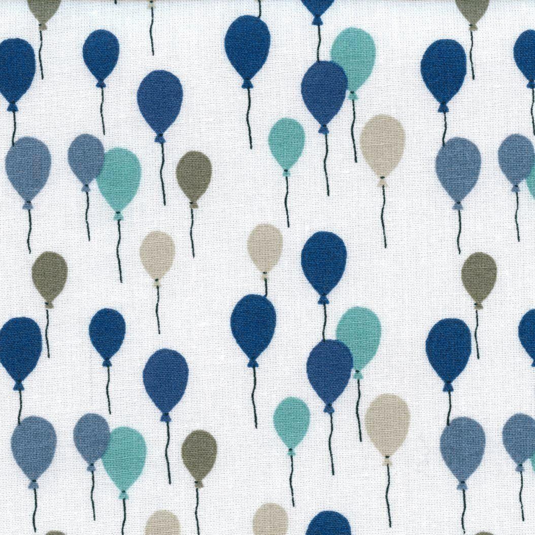 baumwollstoff | mehrfarbige ballons - blau, grau, taupe, beige und, Hause deko