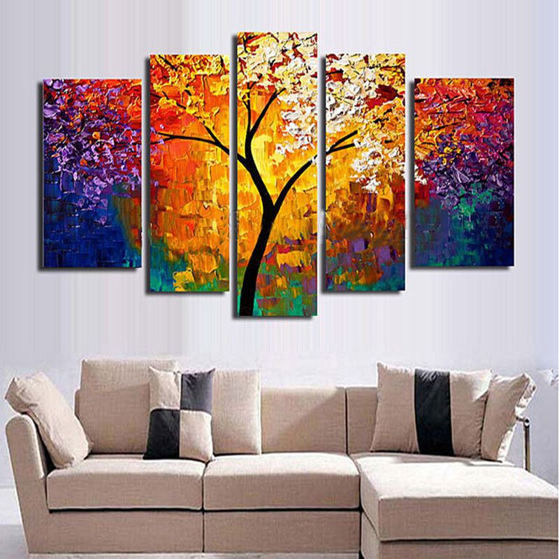 Flower Hand Painted Modern Abstract Oil Painting Canvas Wall Art Picture  Home Decor Poster.
