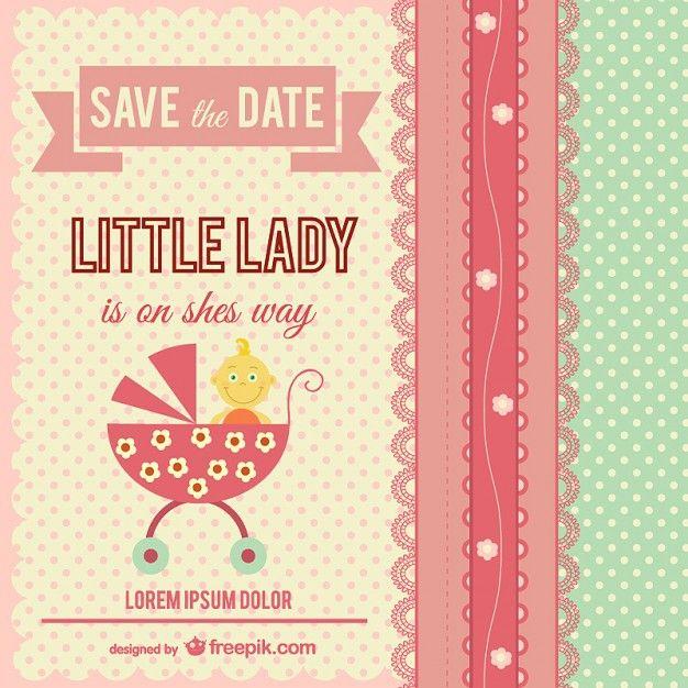 Little lady baby shower - Freepik-Invitations-pin-10 Baby 2 - fresh invitation banner vector