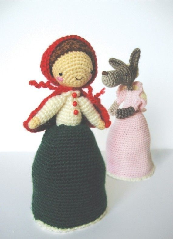 Little Red Riding Hood and The Wolf - Topsy Turvy Amigurumi Doll ...
