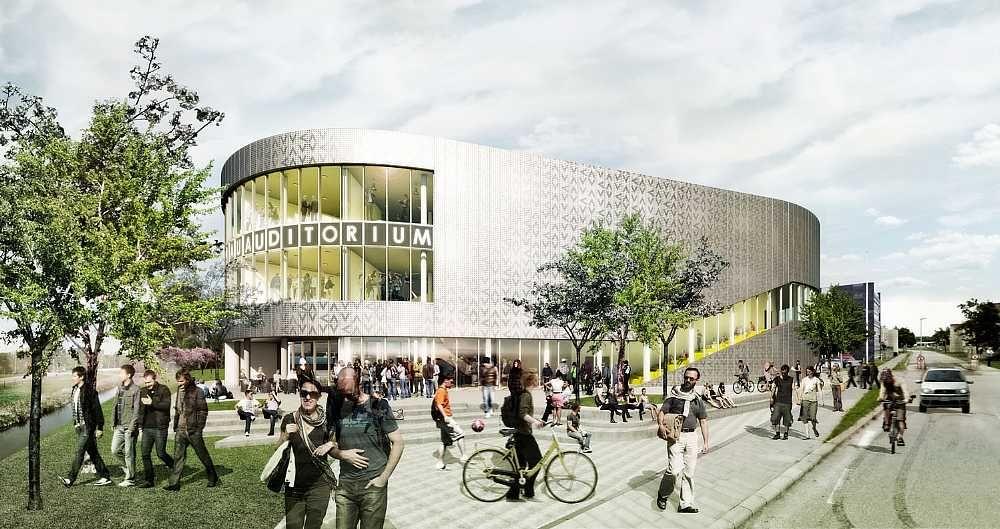 New auditorium at Aalborg University  C.F. Møller