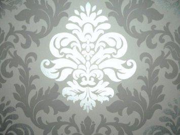 """Rasch 148213 Papiertapete Muster """"Ornament"""" silber-grau: Amazon.de: Baumarkt"""