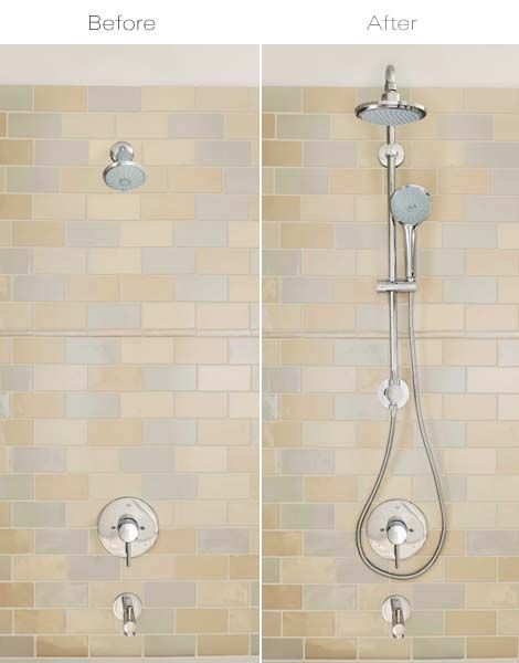 The Grohe Retro Fit Shower System Transforms An Existing Showerhead Installation Into A Shower System With A Show Shower Systems Shower Fixtures Shower Panels