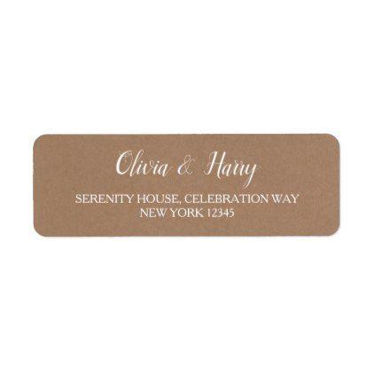 wedding return labels