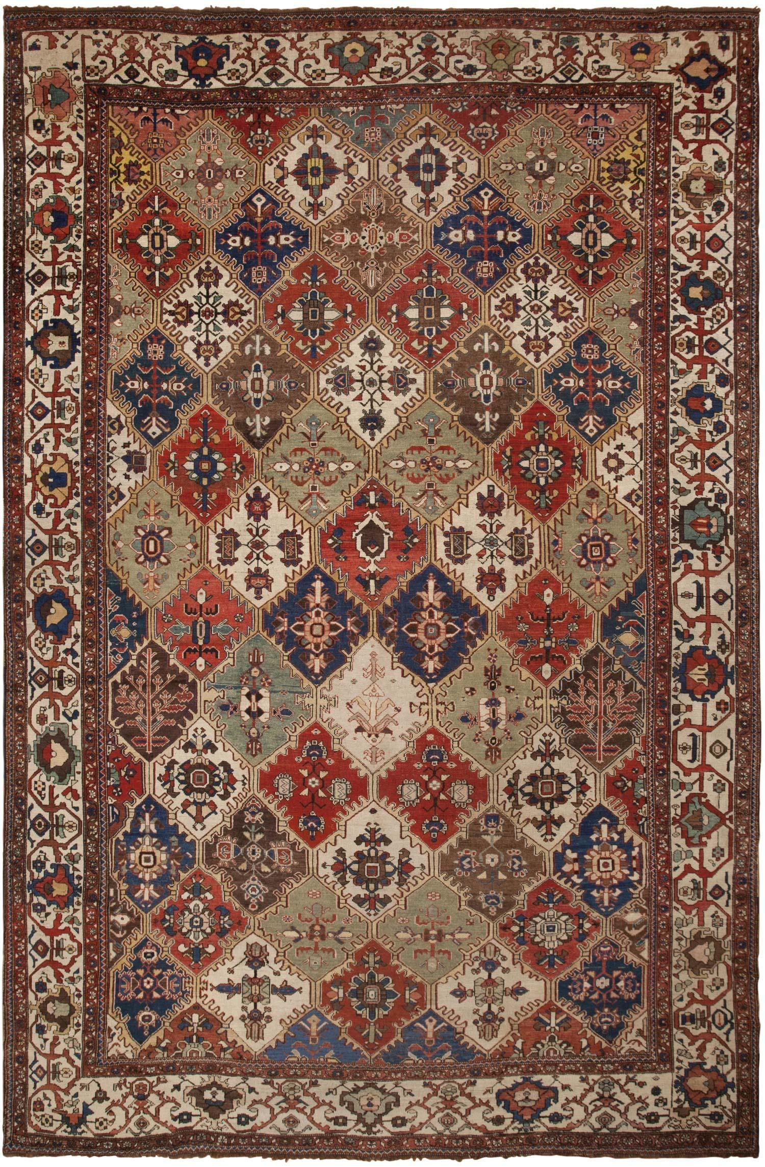 View This Beautiful Antique Bakhtiari Persian Rug 46294 From Nazmiyal S Fine Rugs And Decorative Carpet Collection