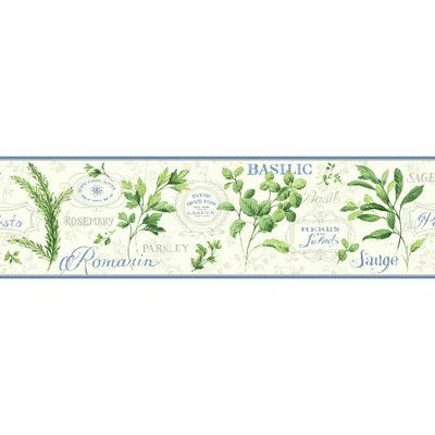 York Wallcoverings Kitchen And Bath Aromatique 15 X 6 75