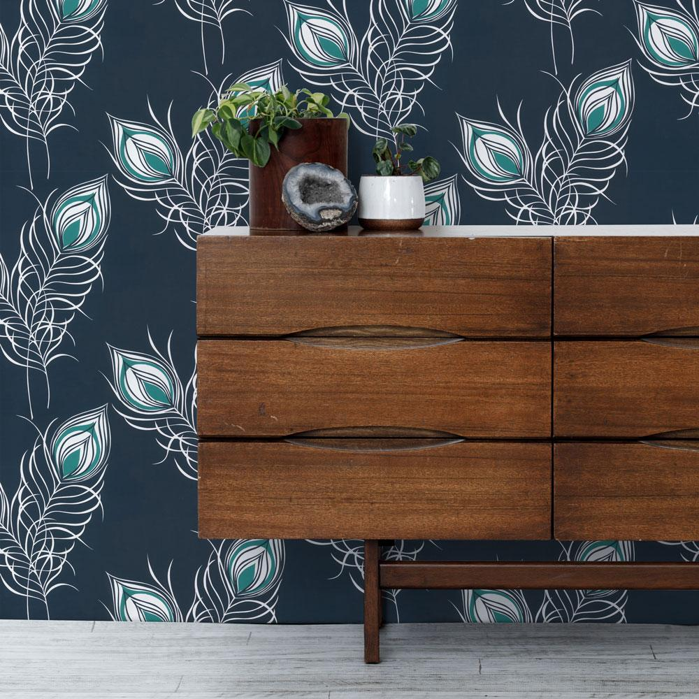 Peacock PeelandStick Removable Wallpaper Removable