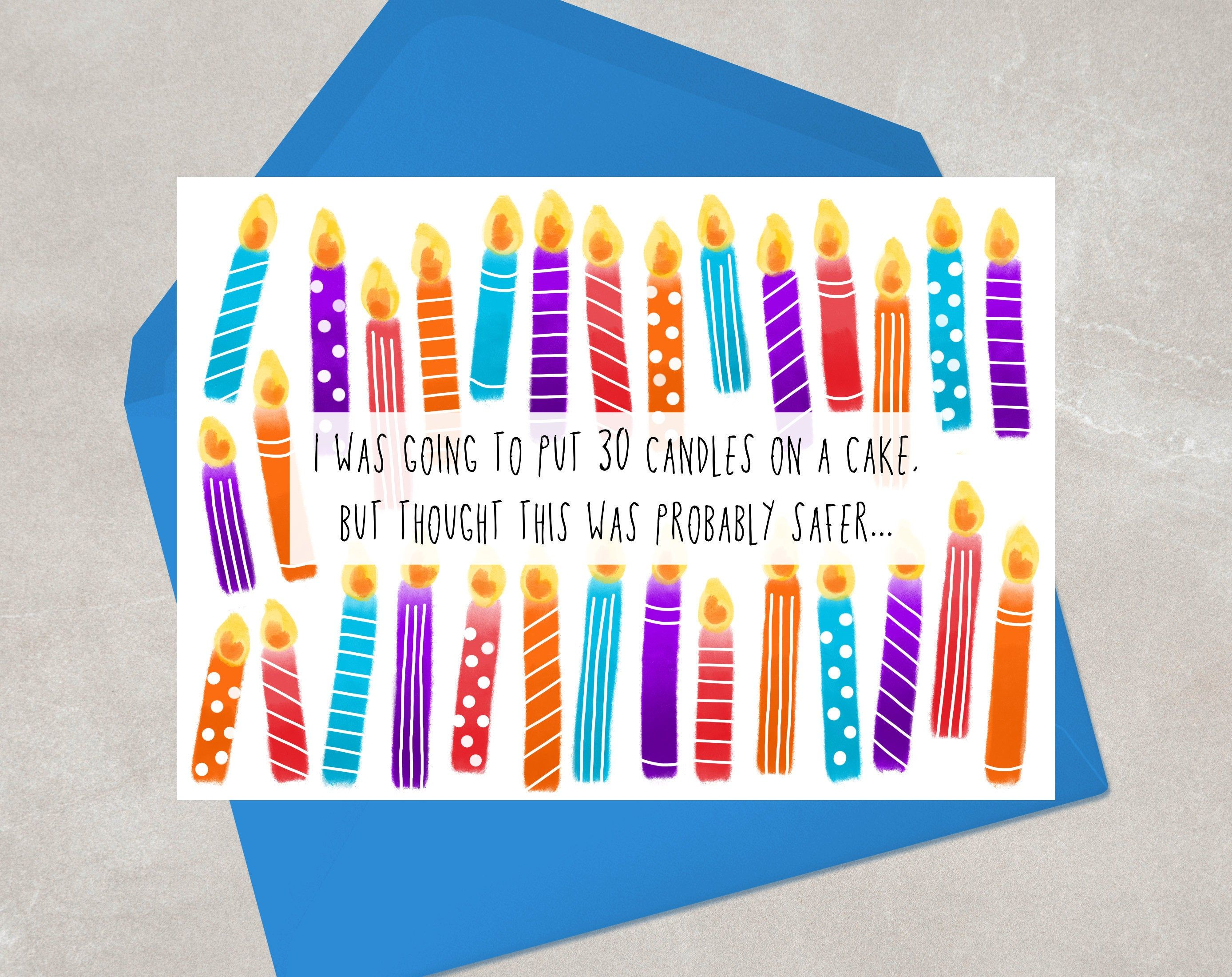 30th birthday card for her for him thirty birthday etsy