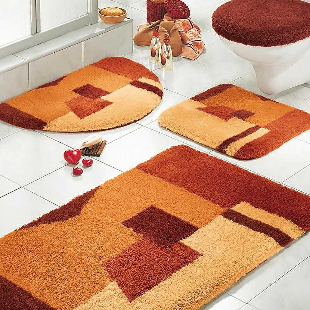 Rainbow Torch Lily Exotic Perennial Bathroom rugs