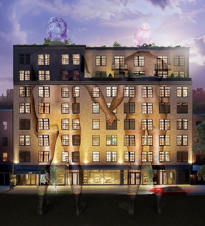 New Looks At Ben Shaoul S High End East Village Condos After Demolition Which Revealed The Remains Of An O East Village Apartments East Village Row House