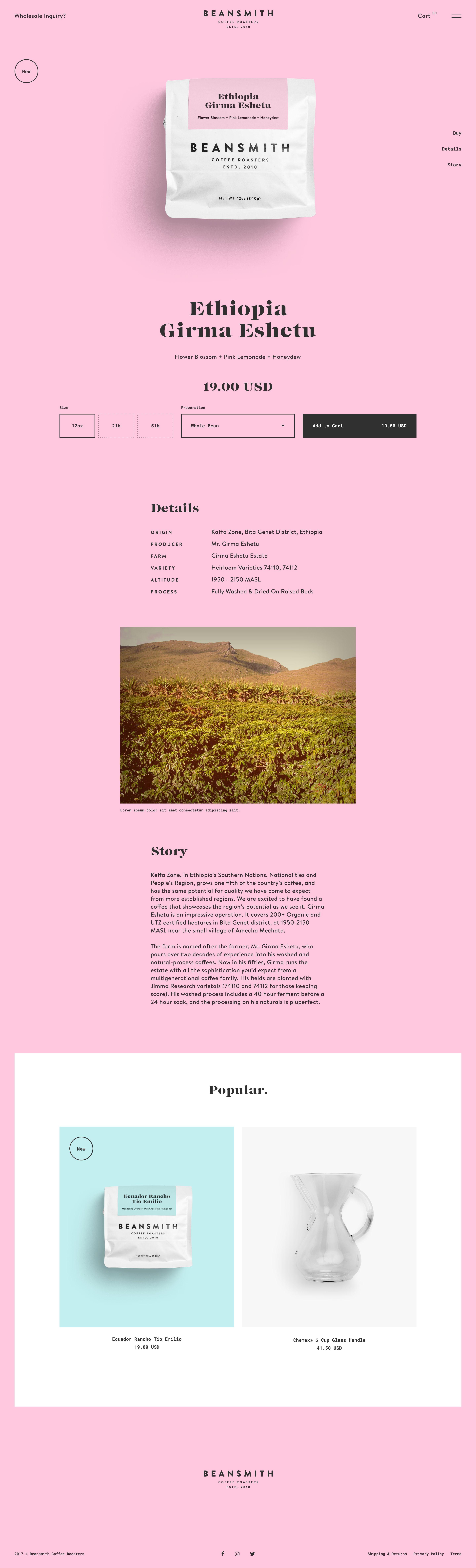 Beansmith Ethiopia 2x Web Template Design Web Graphic Design Fun Website Design
