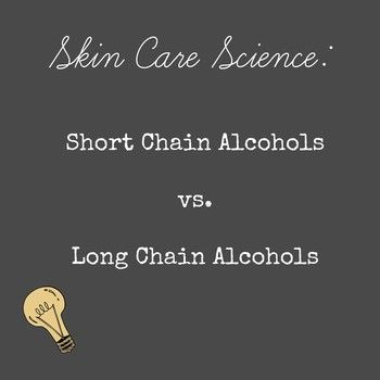 Are all alcohols created equal? Not when it comes to skin care! Some are GOOD.