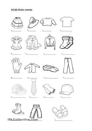 This Ws Contains Clothes Colours Have Got Exercises Esl