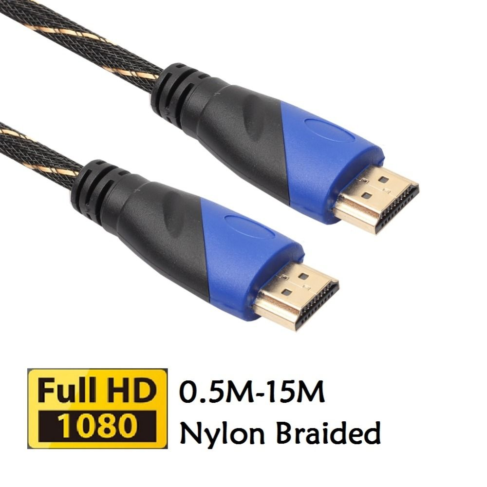 Braided HDMI Cable V1.4 AV HD 3D Male to Male 1080P HDMI Cable for ...