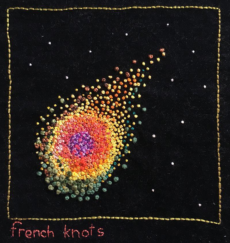 French knot sampler for tast 2015 french knot knitting