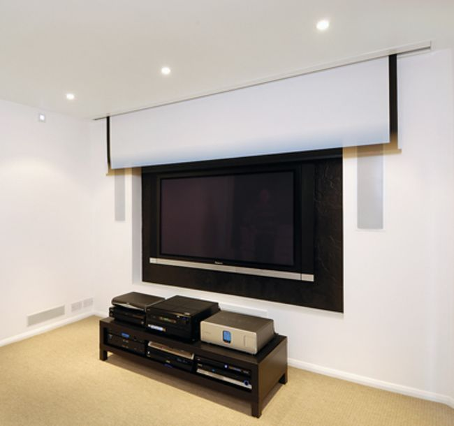 Theater Room With Hidden Projector: Home Cinema Projection Screens: How To Choose