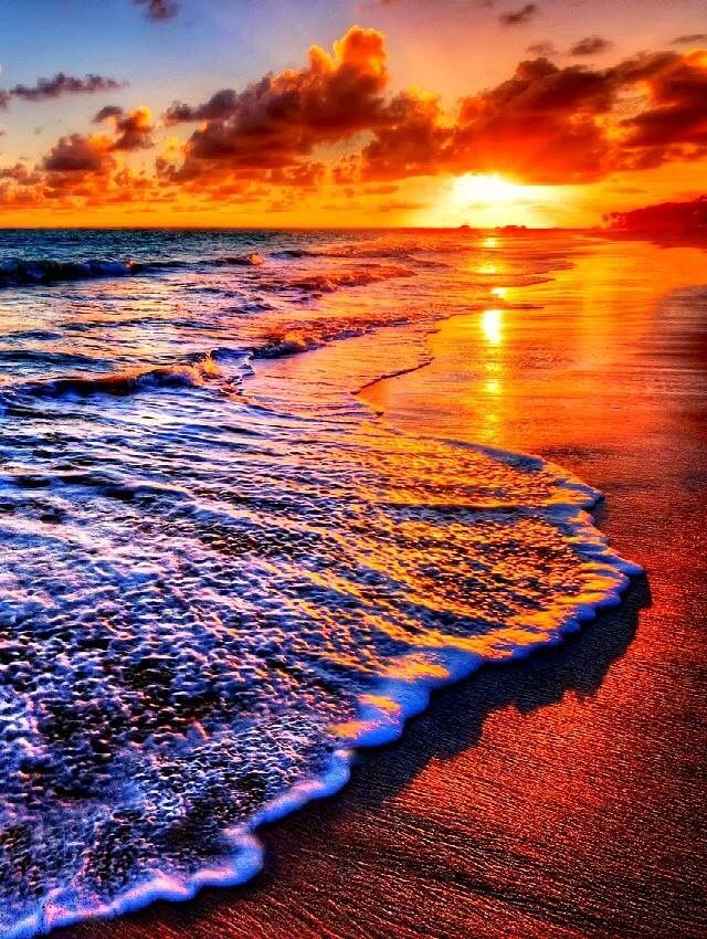 a breathtaking sunset on a beautiful beach sunrise