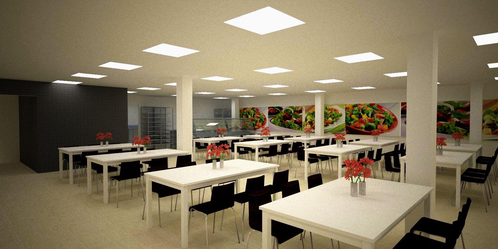 Dise o de comedor industrial para seglo logistics planta for Muebles para comedores industriales
