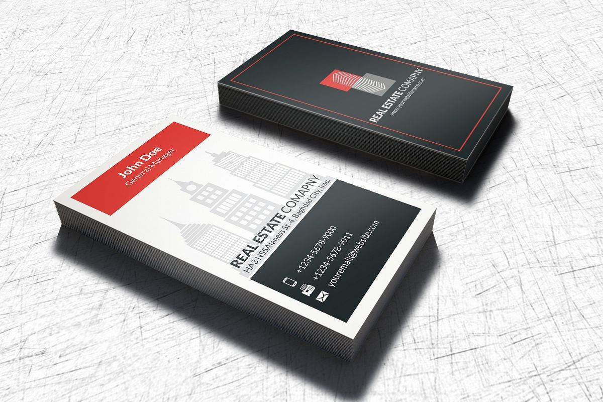 Real Estate Business Card Template | Real estate business ...