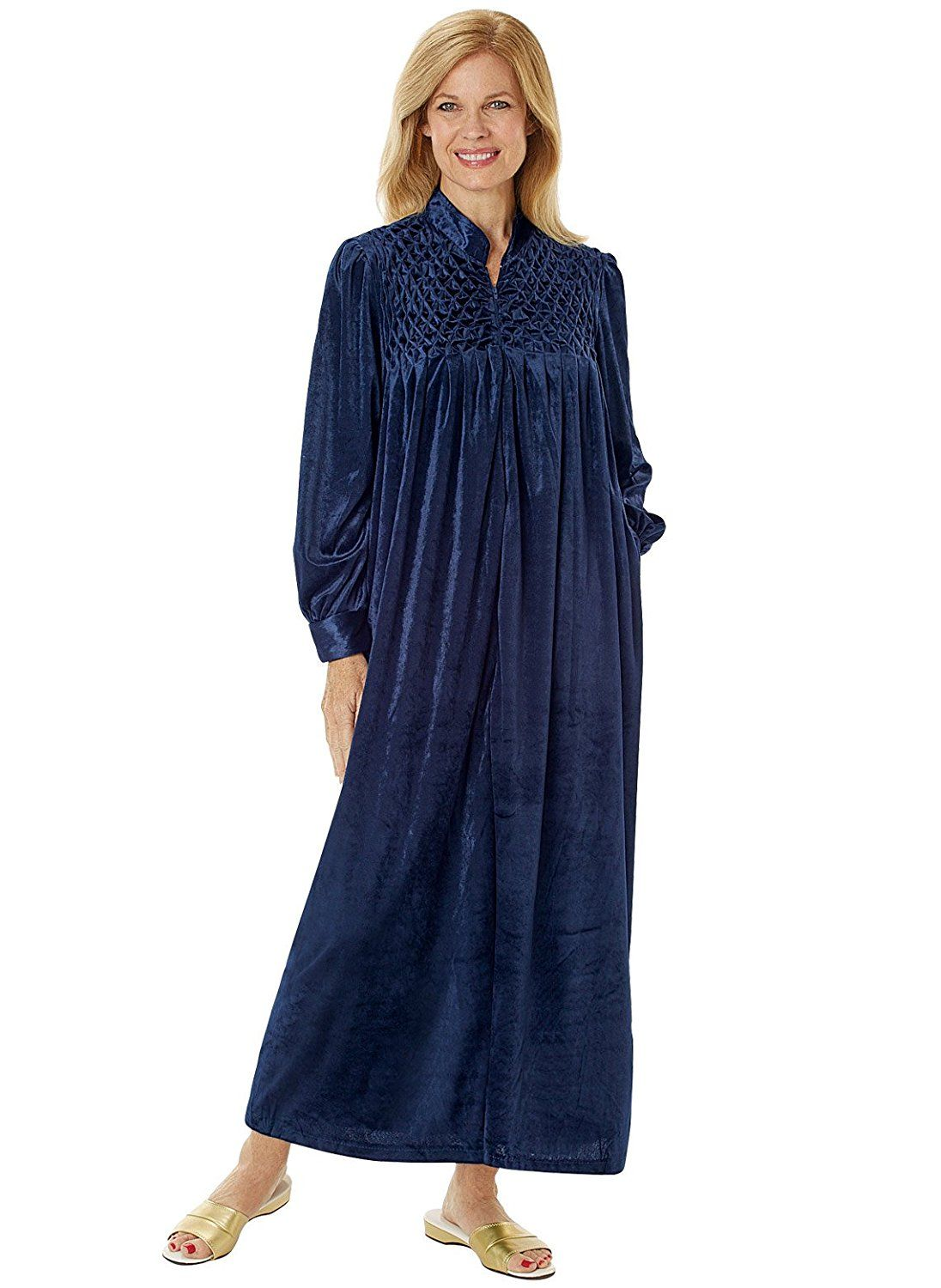 Long Zip Front Robe At Amazon Womens Clothing Store Bathrobes