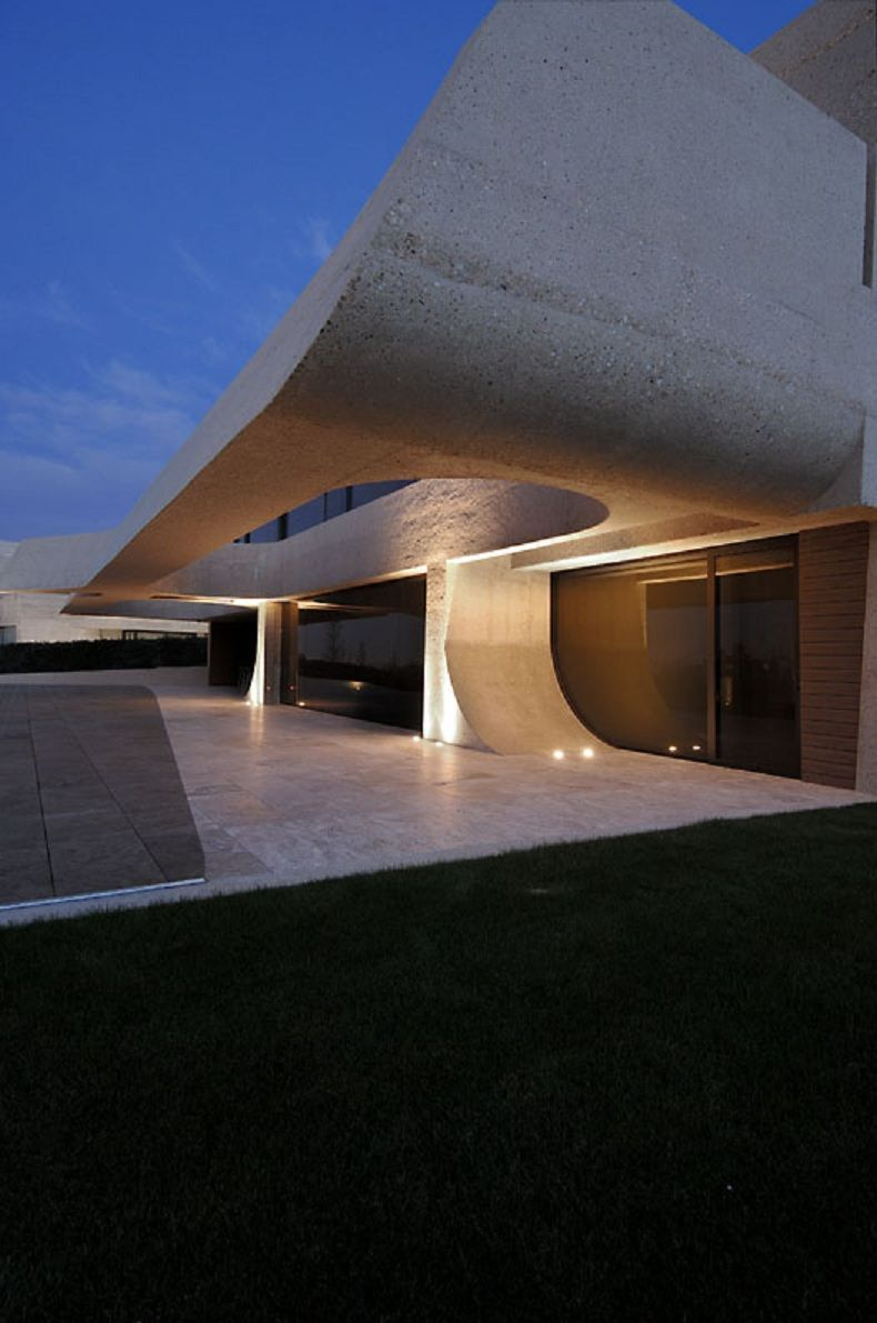 The Concrete House Impressive Building Architecture Design