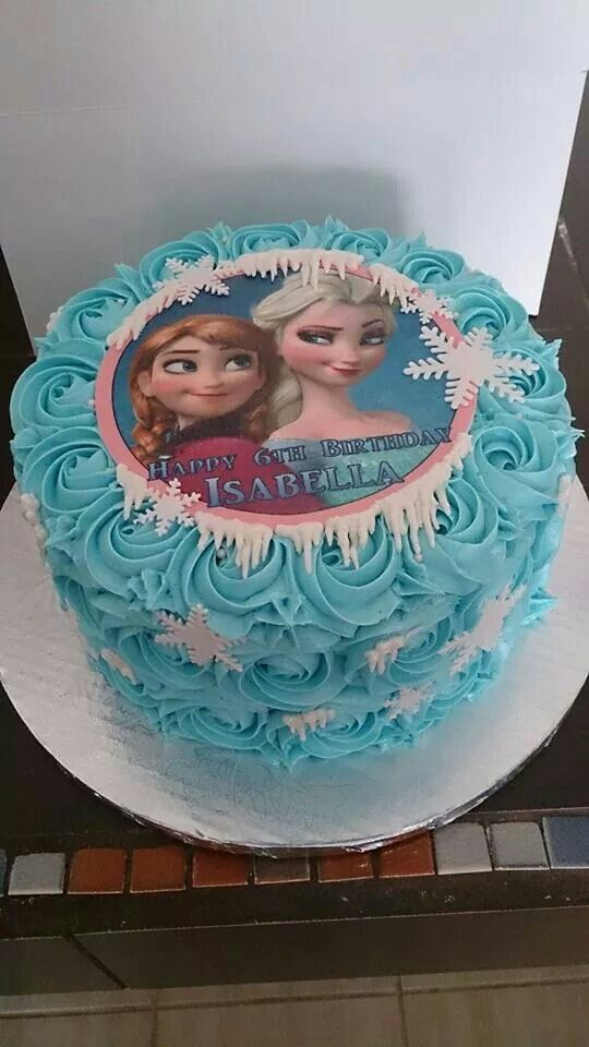 Cute smash cake without the frozen pic.