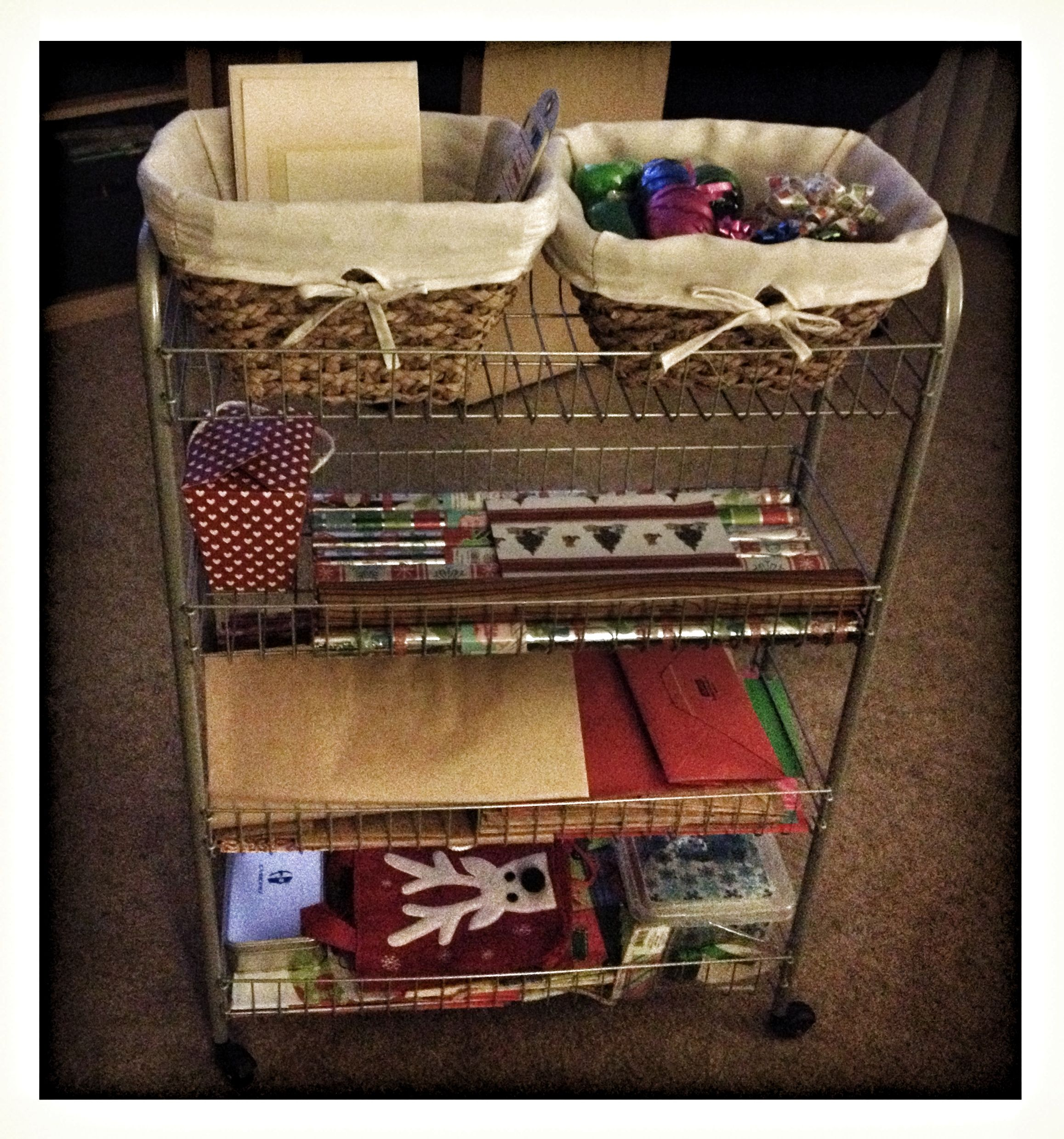 Easy roll-out storage for any season of gift giving! No more hauling ...