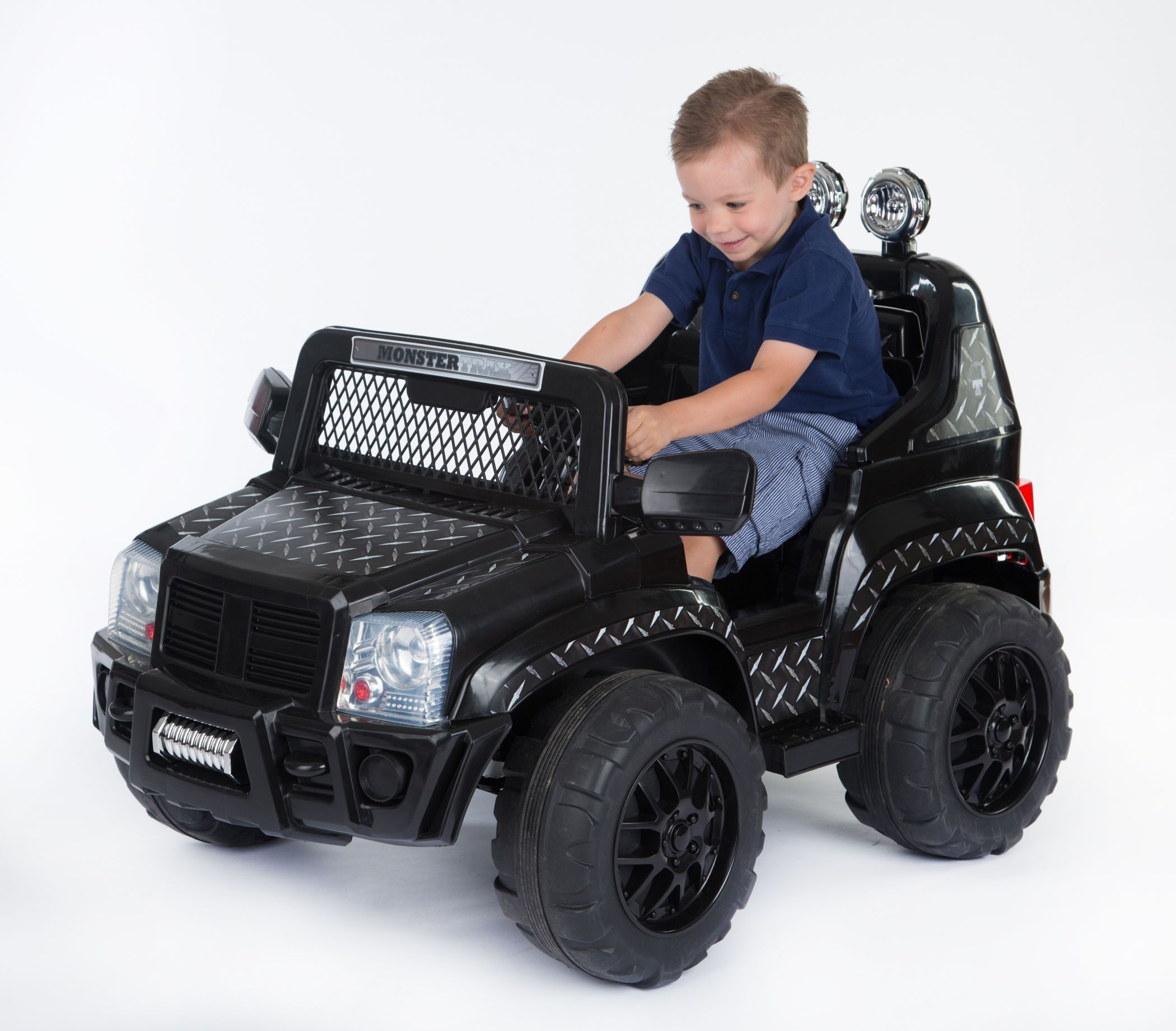 kids can release their foot from the accelerator to stop the suv this ride