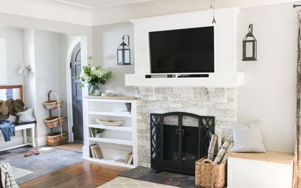 43 Genius Fireplace Makeover Design Ideas Brick Fireplace Makeover Home Fireplace Fireplace Makeover