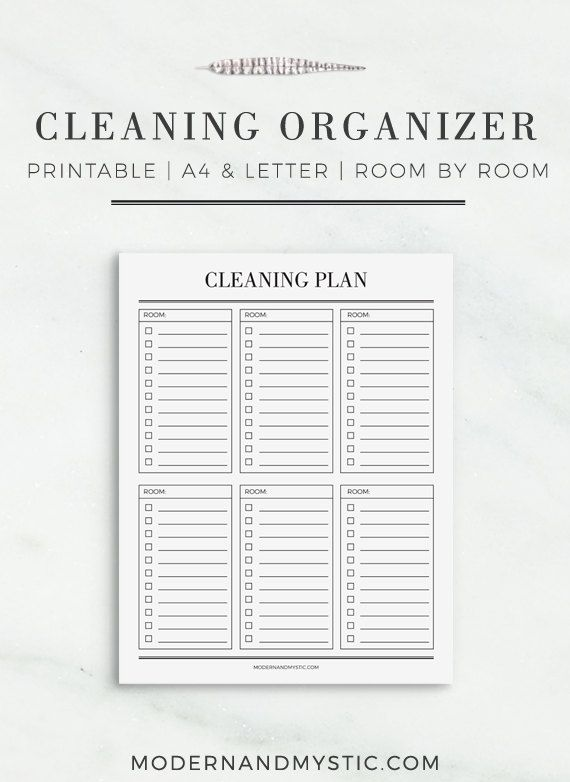 Cleaning Organizer Printable Cleaning Plan Cleaning Schedule