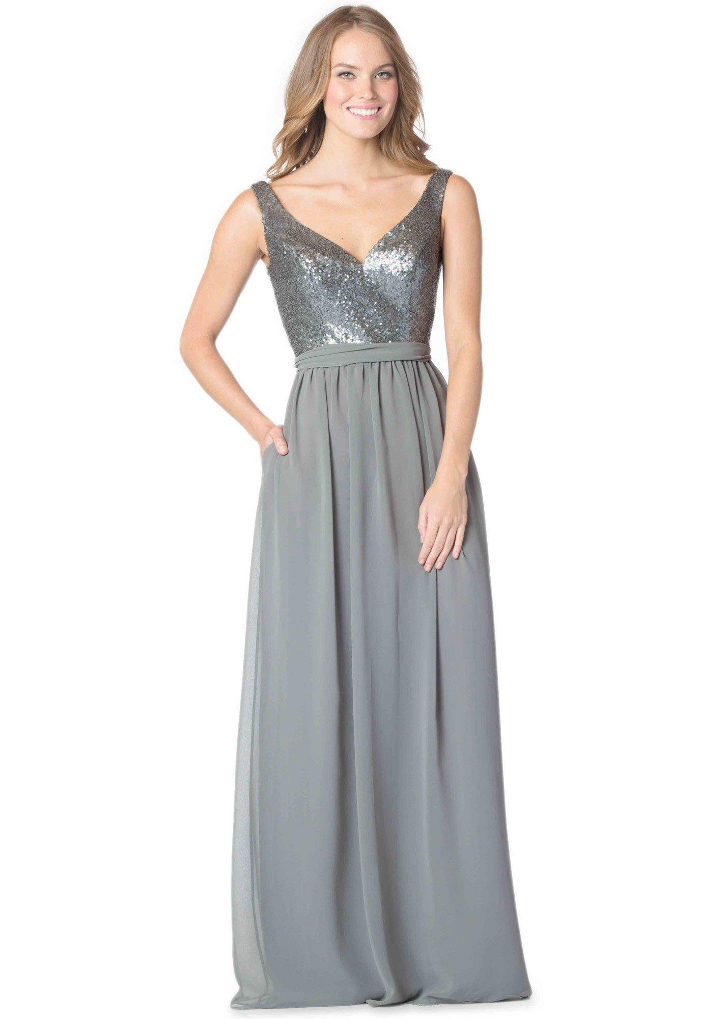 Bari Jay 1613 Elegant Sequin & Chiffon Bridesmaid Dress | Bari jay ...