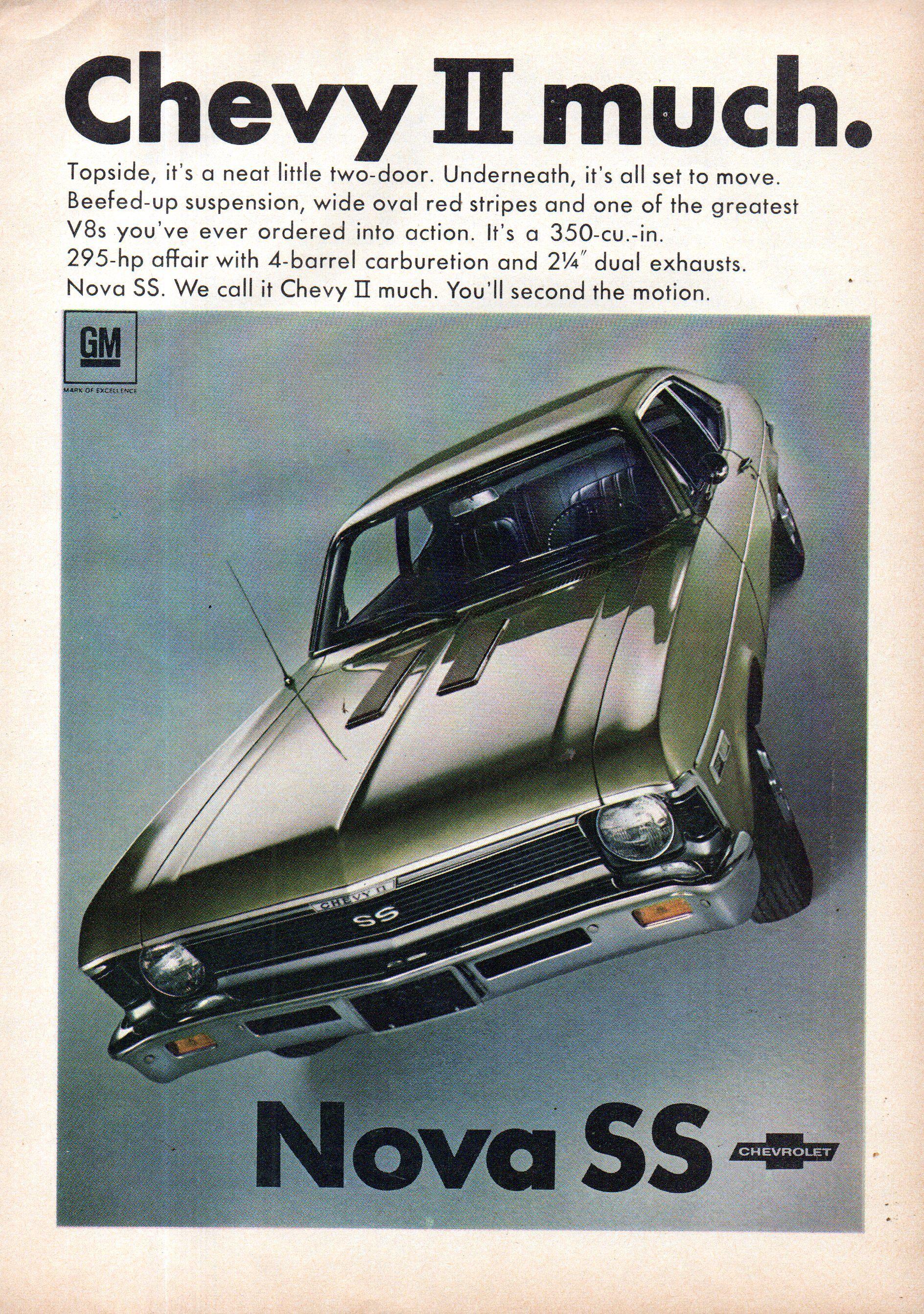 1968 Chevrolet Chevy II Nova SS Coupe USA Original Magazine Advertisement