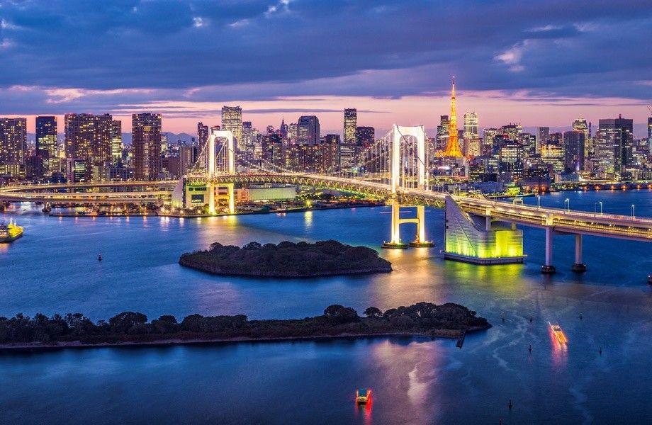 Tokyo Skyline 4k Ultra Hd Wallpaper 4k Wallpaper Net Tokyo Skyline Tokyo Bay Skyline