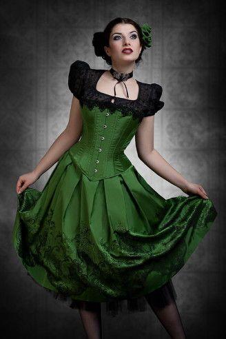 Grünes Dirndlkleid Sonja Fellner. Seidendirndl