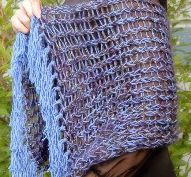 The Knifty Knitter: Rectangle Shawl   Loom Knitting   Pinterest ...