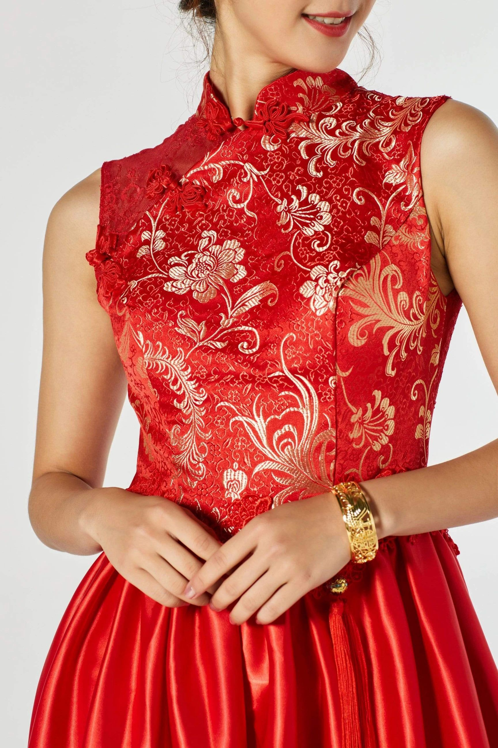 6 Qipao Dress Fabric Types You Need To Know Before Buying Ceremony Dresses Qipao Dress Red Chinese Dress [ 2592 x 1728 Pixel ]