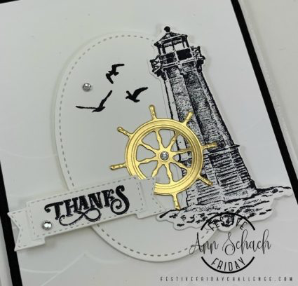 Masculine Thank You Card for FF0042 - The Stampin' Schach #stampinup!cards