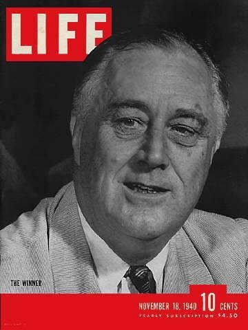 Image result for fdr wins an unprecedented third term in office