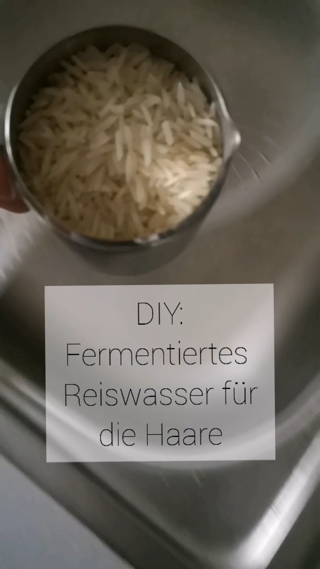 Reiswasser für glänzende Haare
