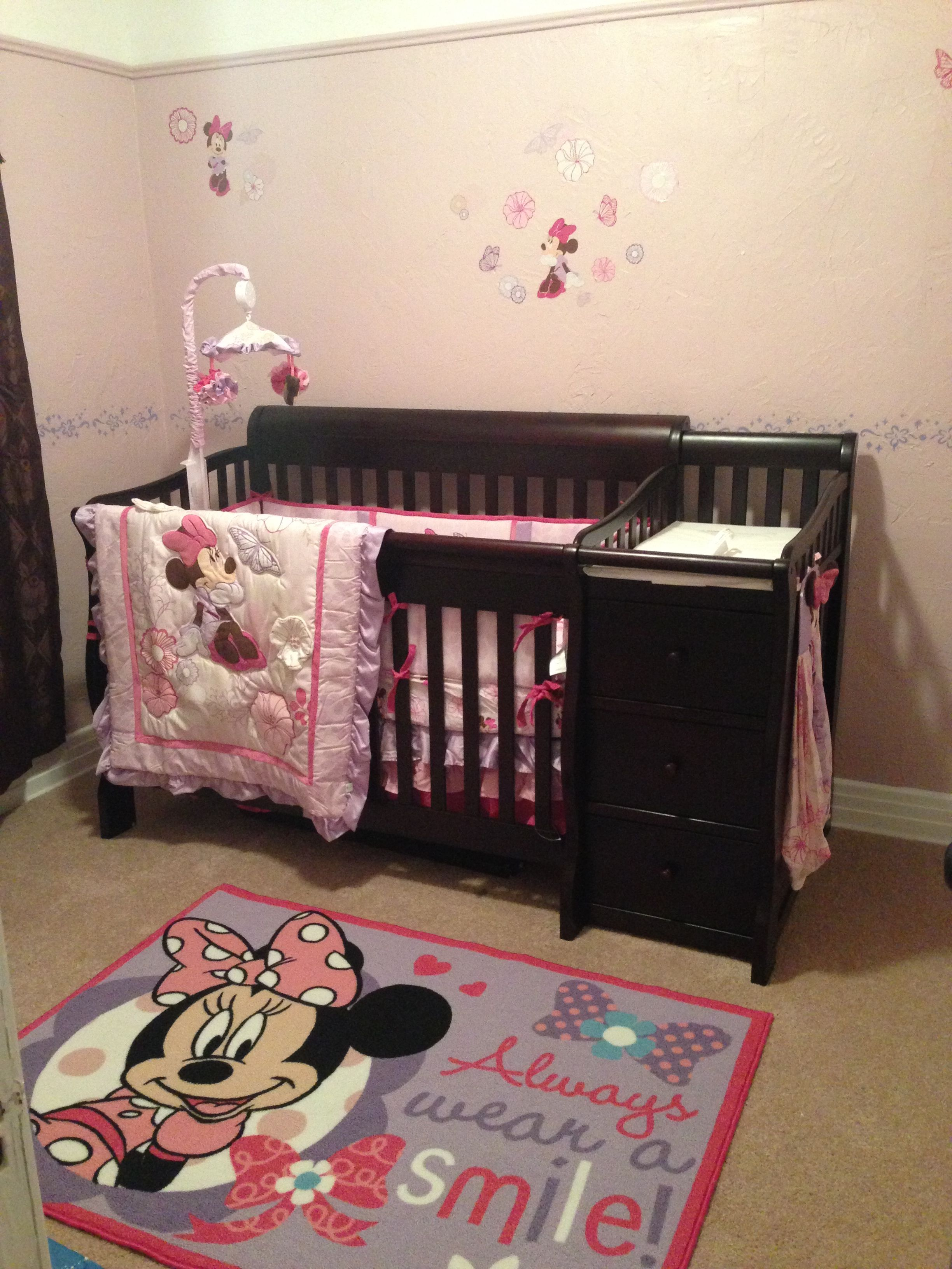 minnie mouse nursery jofuff pinterest minnie mouse. Black Bedroom Furniture Sets. Home Design Ideas