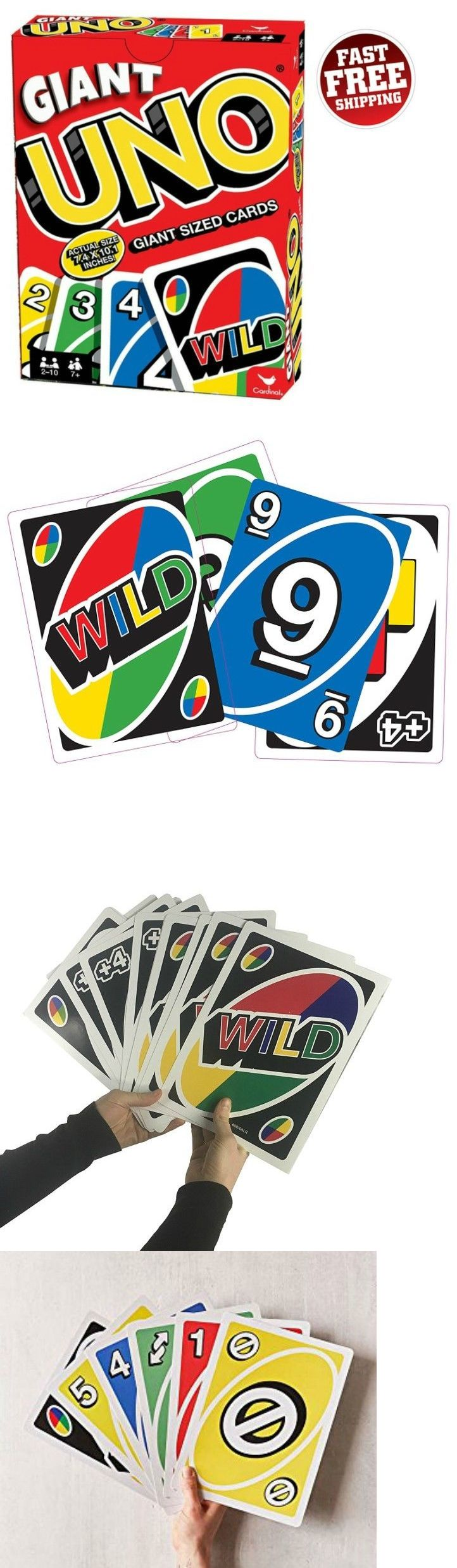 Card Games and Poker 180350 Giant Uno Playing Cards