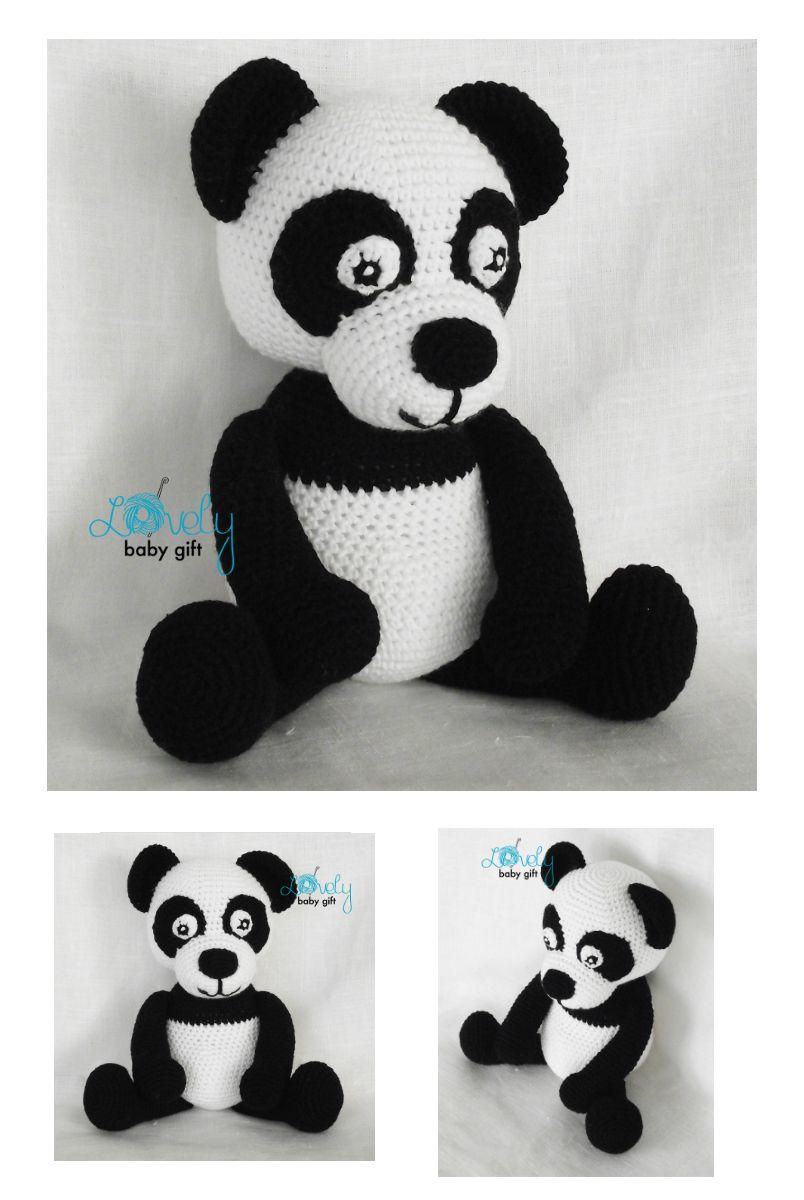 Stuffed Panda Amigurumi Toy pattern by Viktorija Dineikiene   Pinterest
