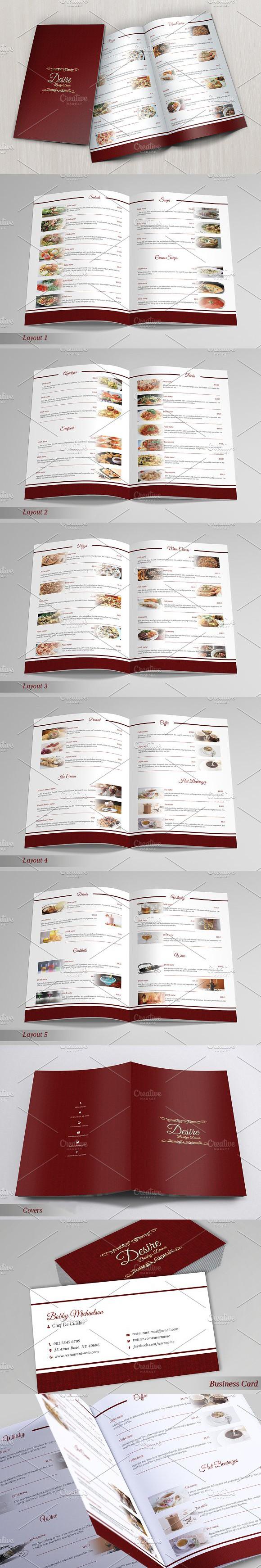 Restaurant Menu u0026 Business Card Restaurant Menu