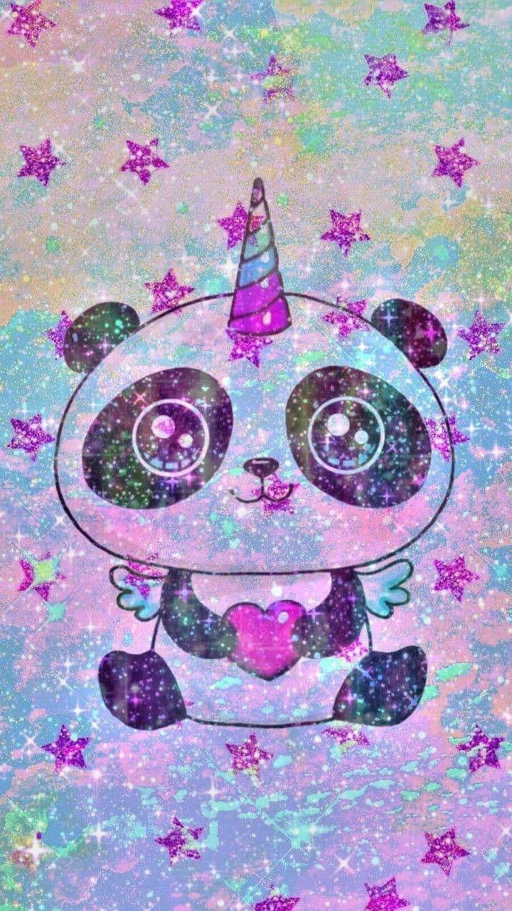 Pin By Delsie Yacab On Panda Cat Unicorn Wallpaper Panda Wallpapers Cute Galaxy Wallpaper