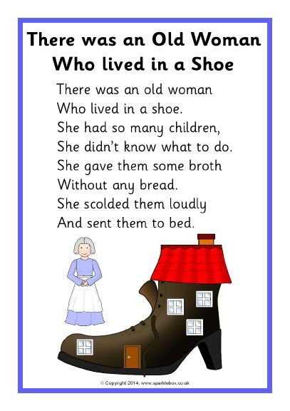There Was An Old Woman Who Lived In A Shoe SB10896