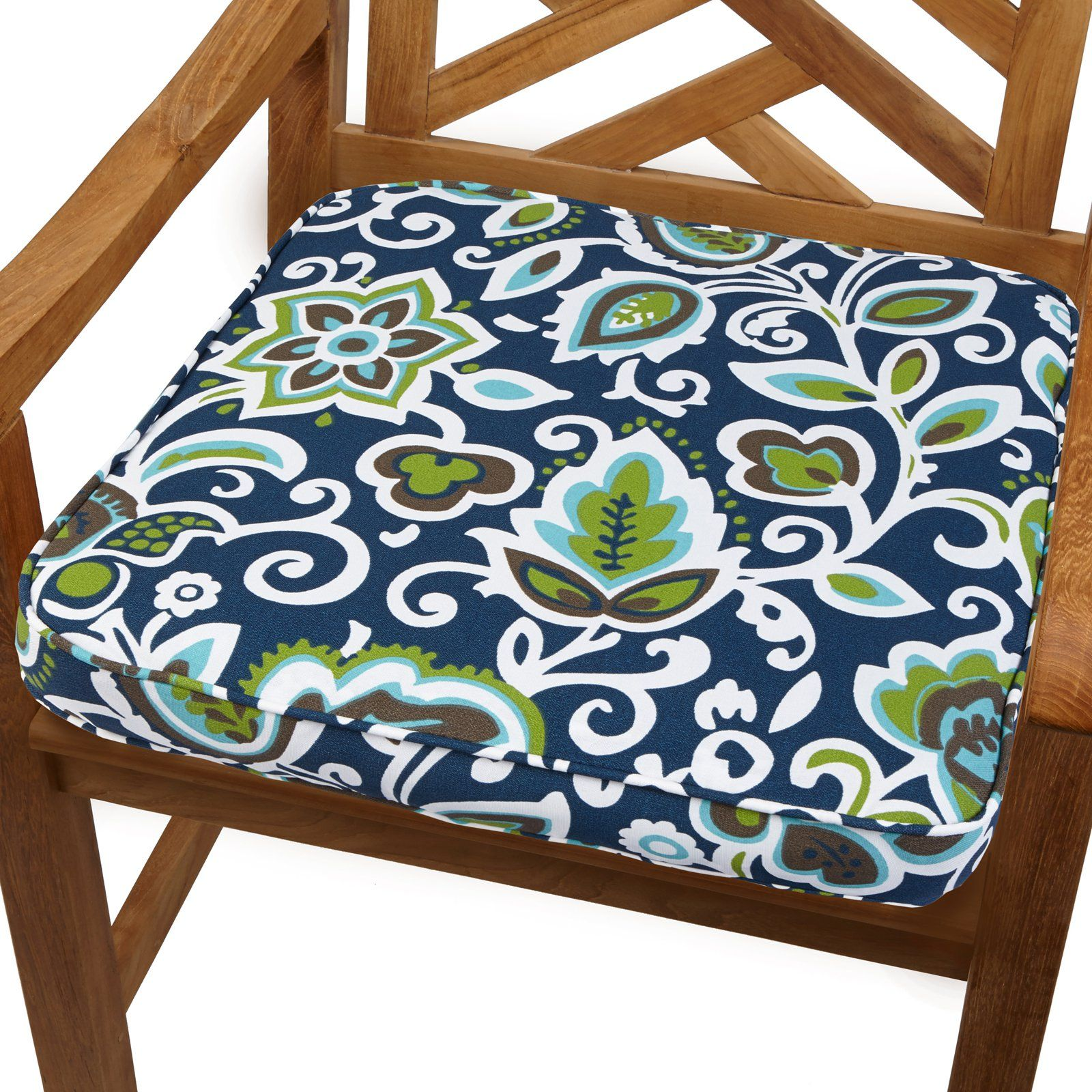 Indoor Outdoor Corded Chair Cushion