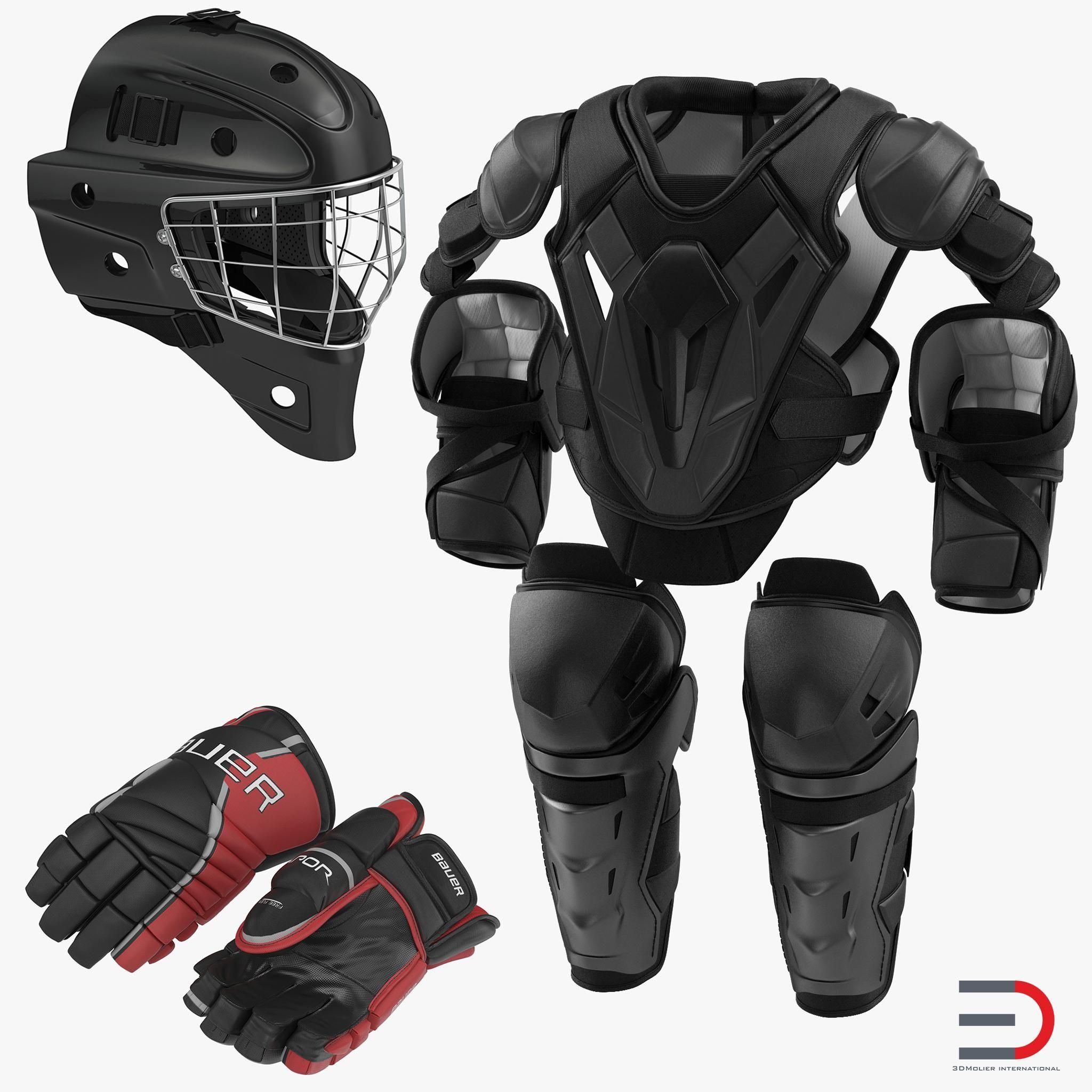 Hockey Protective Gear Kit 2 3d Model Ad Protective Hockey Gear Model Hockey Protective Gear Hockey Gear Hockey