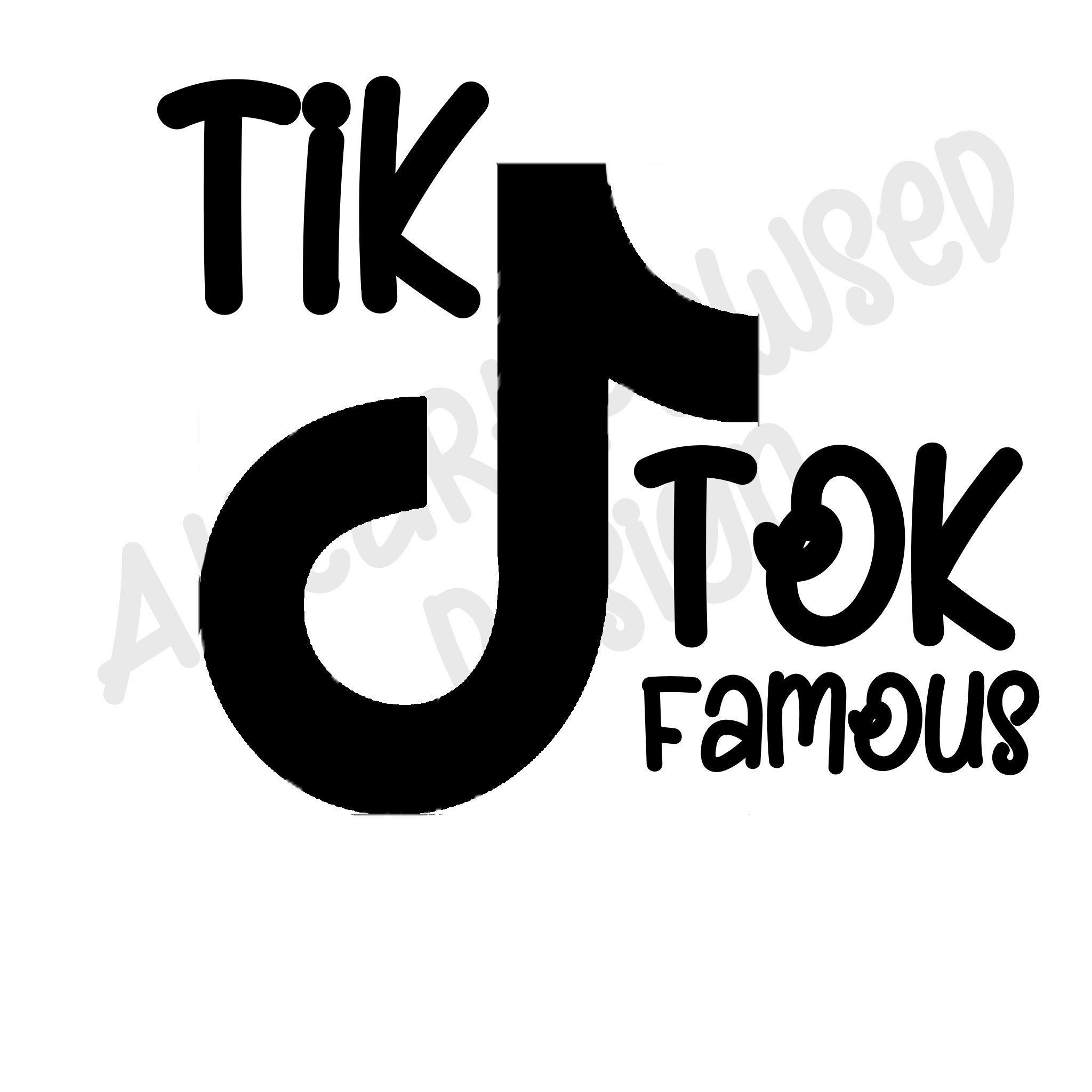 Tik Tok Famous SVG Etsy in 2020 Tok, Svg, Famous